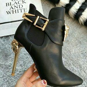 663a3a46 Versace Shoes | Palazzo High Heel Booties | Poshmark